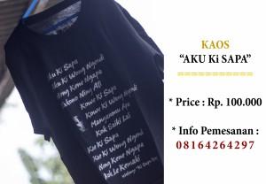 Aku Ki Sapa (Info Pemesanan : 0816-426-4297)